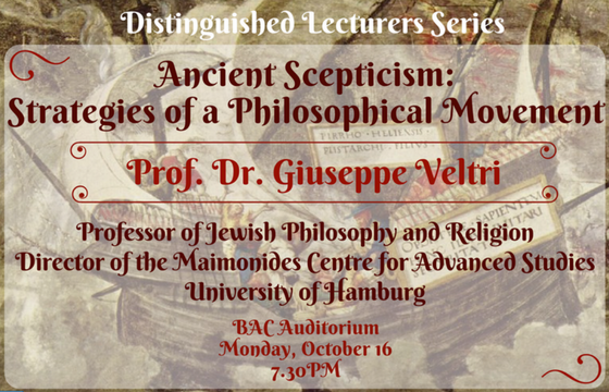 History Nights: Ancient Skepticism. Strategies of a Philosophical Movement