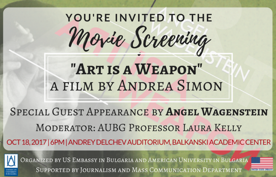 "Movie Screening: ""Art is a Weapon"" a Film by Andrea Simon"