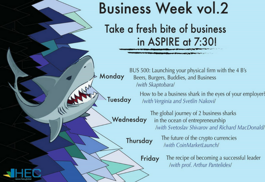 "Business Week: ""How to be a real business shark in the eyes of your employer?"" - a workshop facilitated by Verginia Nakova, founder of Training Academy and Svetlin Nakov, founder of SoftUni"