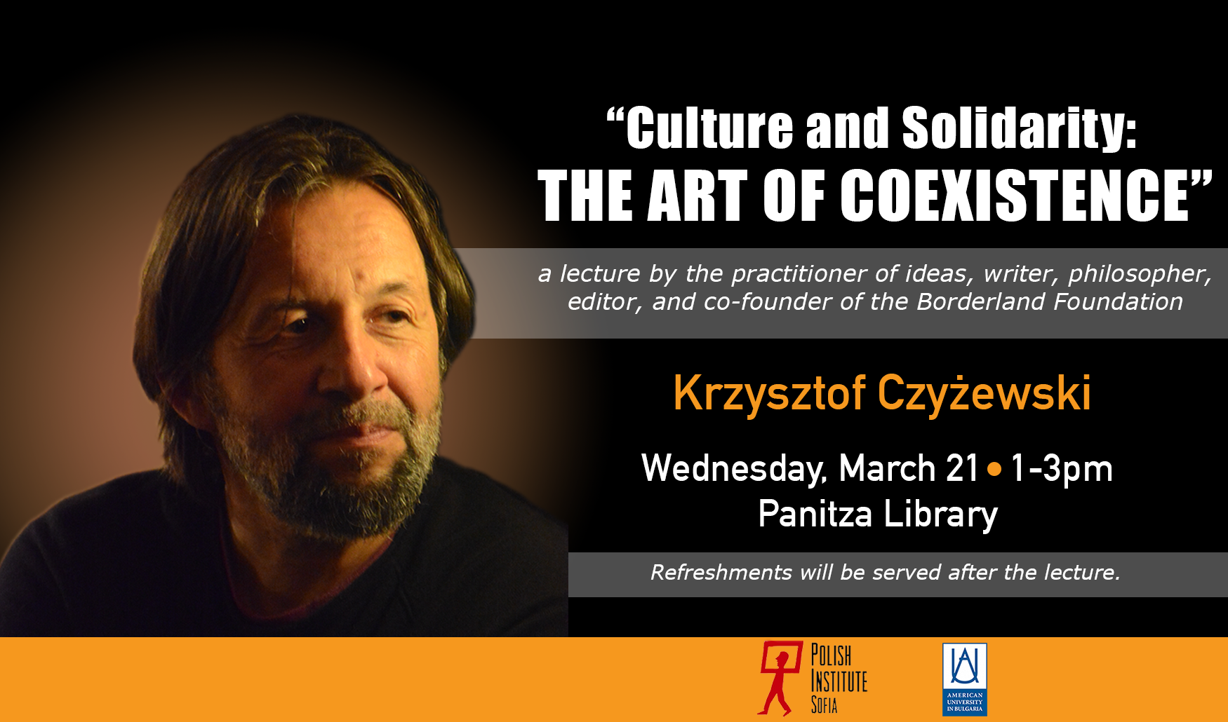 Lecture: Culture and Solidarity: The Art of Coexistence by Krzysztof Czyżewski