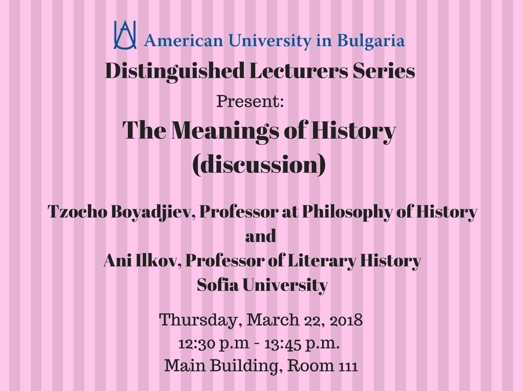 Lecture: The Meanings of History