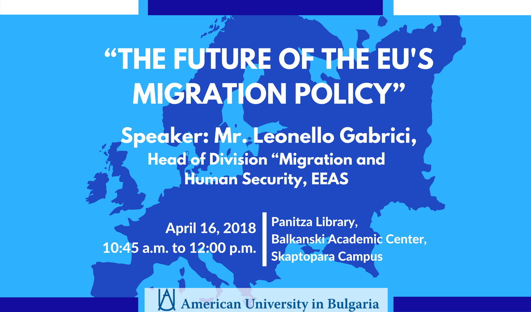 Lecture: The Future of the EU Migration Policy