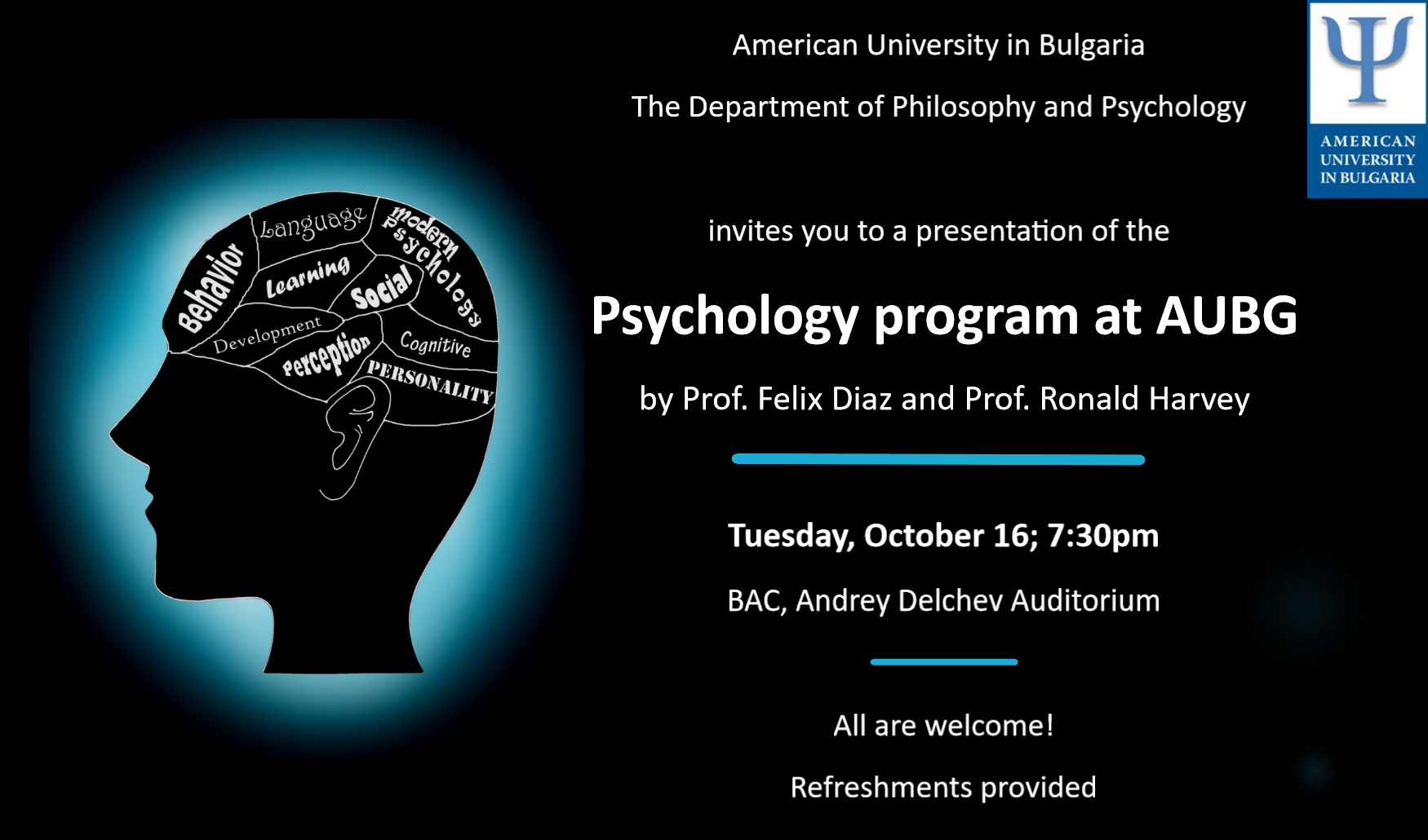 Presentation: Psychology Program at AUBG