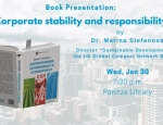 "Book presentation: ""Corporate sustainability and responsibility,"" by Dr. Marina Stefanova"