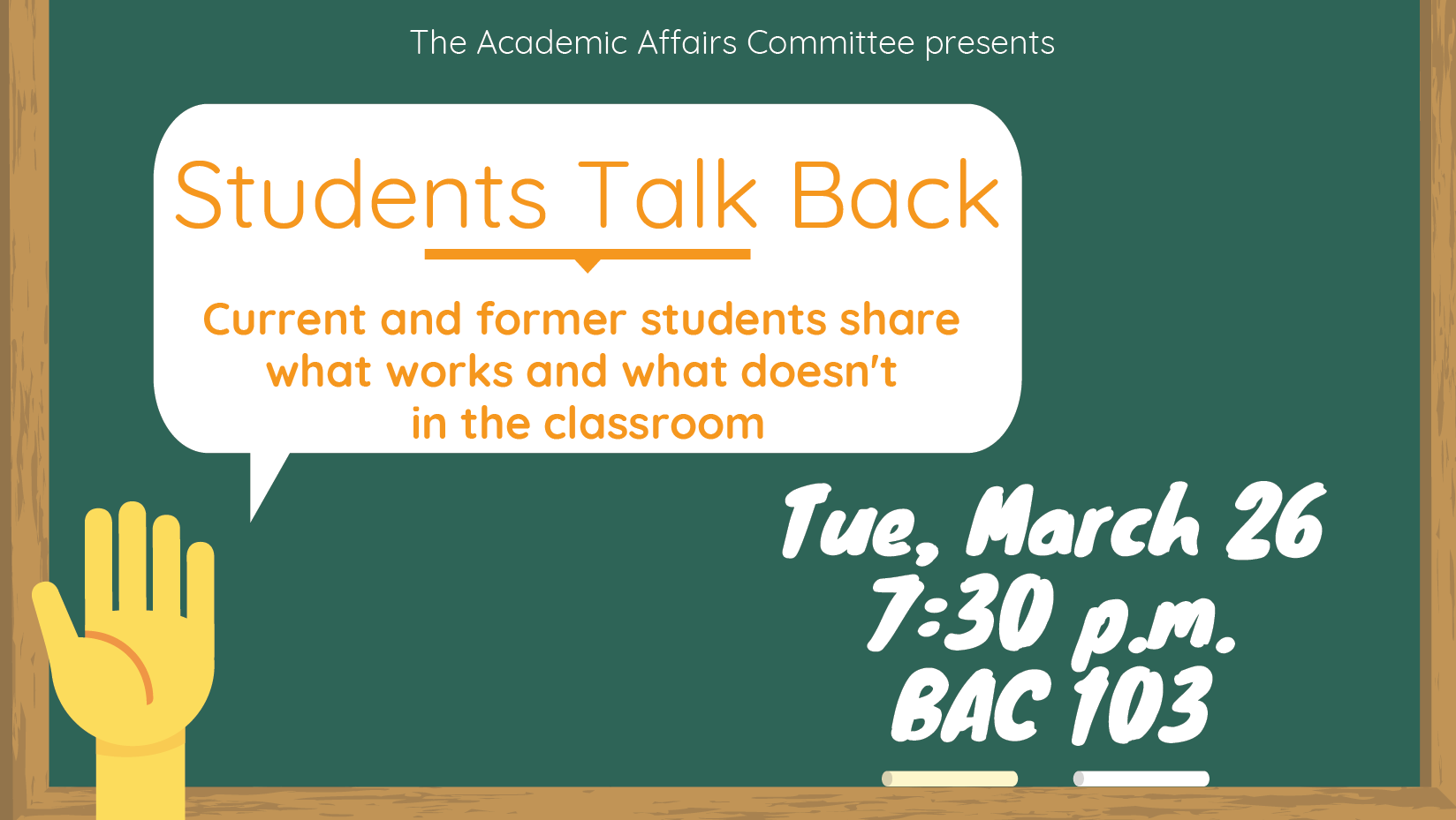 Discussion: Students Talk Back