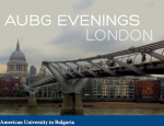 AUBG Evening in London
