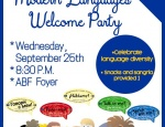 Modern Languages Welcome Reception