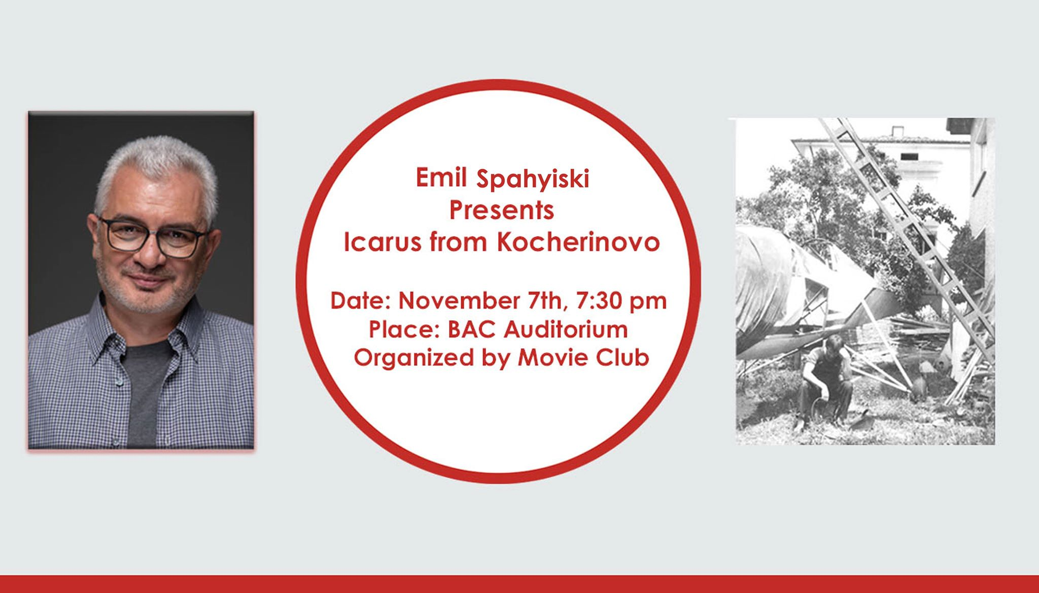"Movie Club Presents: Emil Emil Spahyiski and his film ""Icarus from Kocherinovo"""