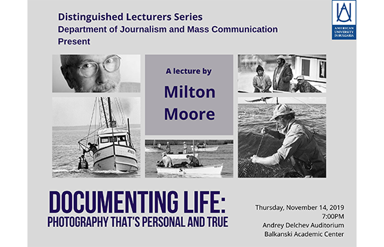 Distinguished Lectures Series. Documenting Life: Photography that's personal and true
