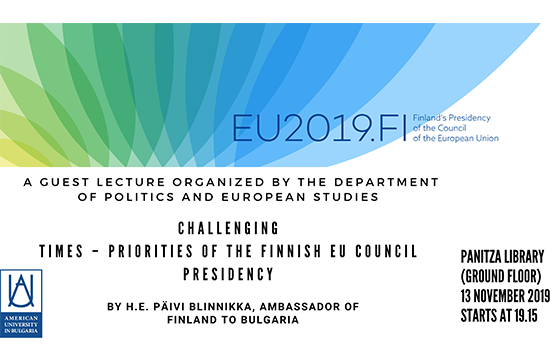 "Visit and Presentation: ""Challenging Times – Priorities of the Finnish EU Presidency"""