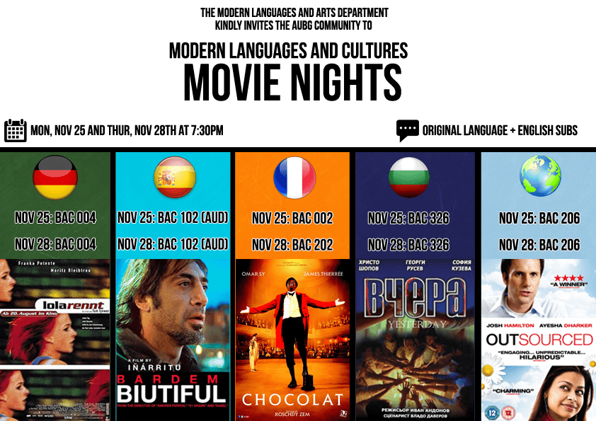 Languages and Cultures Movie Night