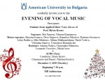 Concert:  Evening of Vocal Music