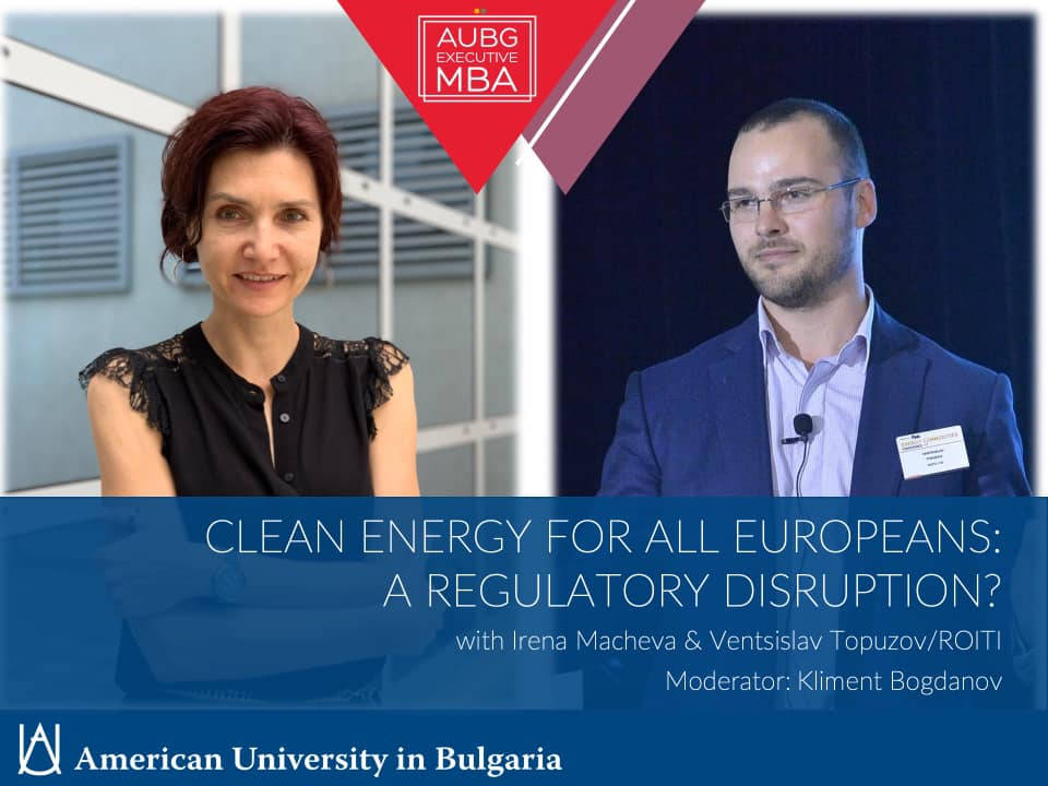 Irena Macheva & Ventsislav Topuzov from ROITI: Clean Energy for All Europeans: a Regulatory Disruption?