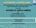 Lecture: Mysteries of Complex Numbers