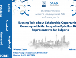 Evening Talk about Scholarship Opportunities in Germany
