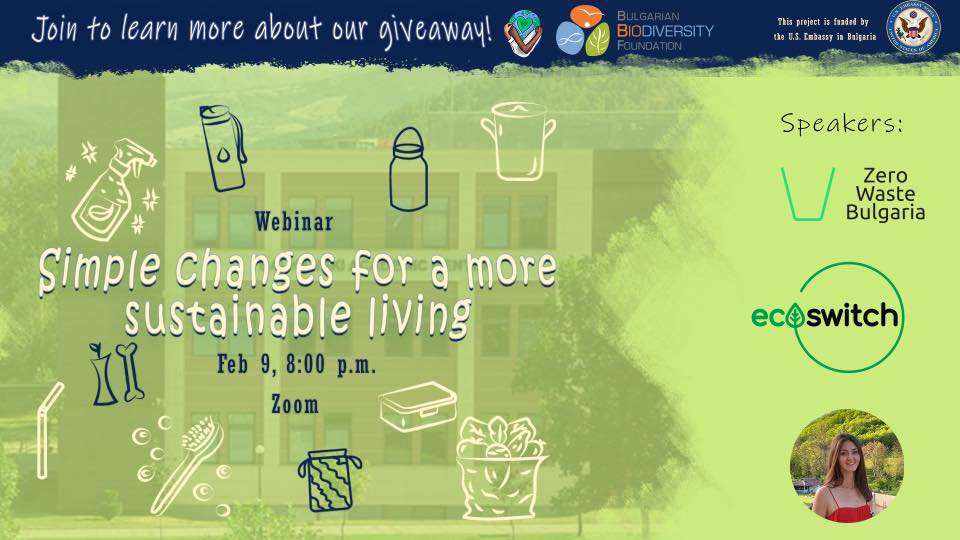 Webinar: Simple Changes for a More Sustainable Living