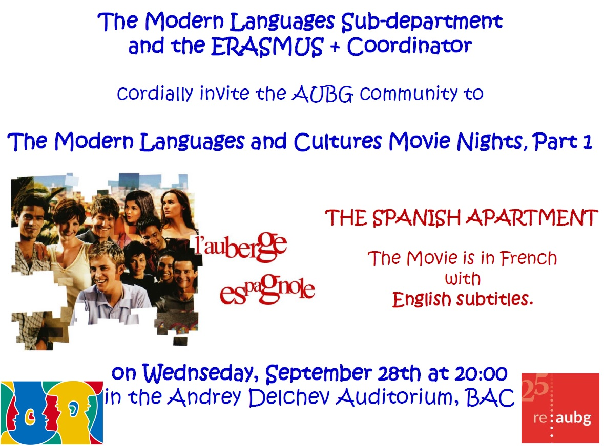 The Modern Languages and Culture Movie Nights Part 1