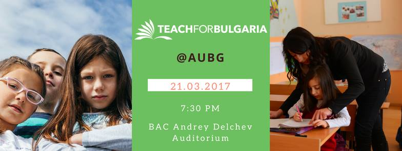 Teach For Bulgaria @AUBG