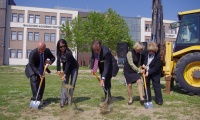 2011 May 14: Groundbreaking for America for Bulgaria Student Center.