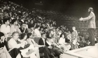 1991 June 24: First Opening Ceremony: AUBG opens doors with 16 full-time faculty members welcoming 208 brave students.