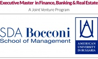2017 April 3, 2017: AUBG and SDA Bocconi launch joint venture Executive Master in Finance, Banking and Real Estate