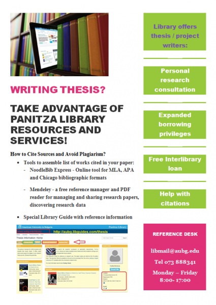 Thesis about library services
