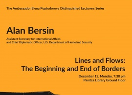Ambassador Elena Poptodorova Lecturers Series: Lines and Flows - the Beginning and End of Borders, Dec.12, 2016