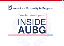"""The holidays are coming and so is the new issue of """"Inside AUBG""""! See some of this edition's highlights in our video teaser"""