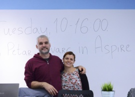 Successful Alumnus Shares His Story with AUBG Students