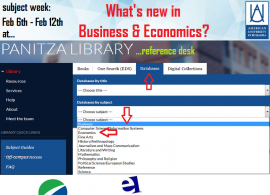 Panitza Library Subject weeks: What's new in Business & Economics?