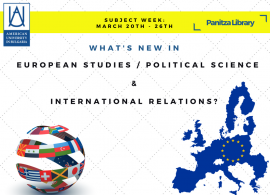 Panitza Library Subject weeks: What's new in European Studies / Political Science / International Relations? March 20th-26th