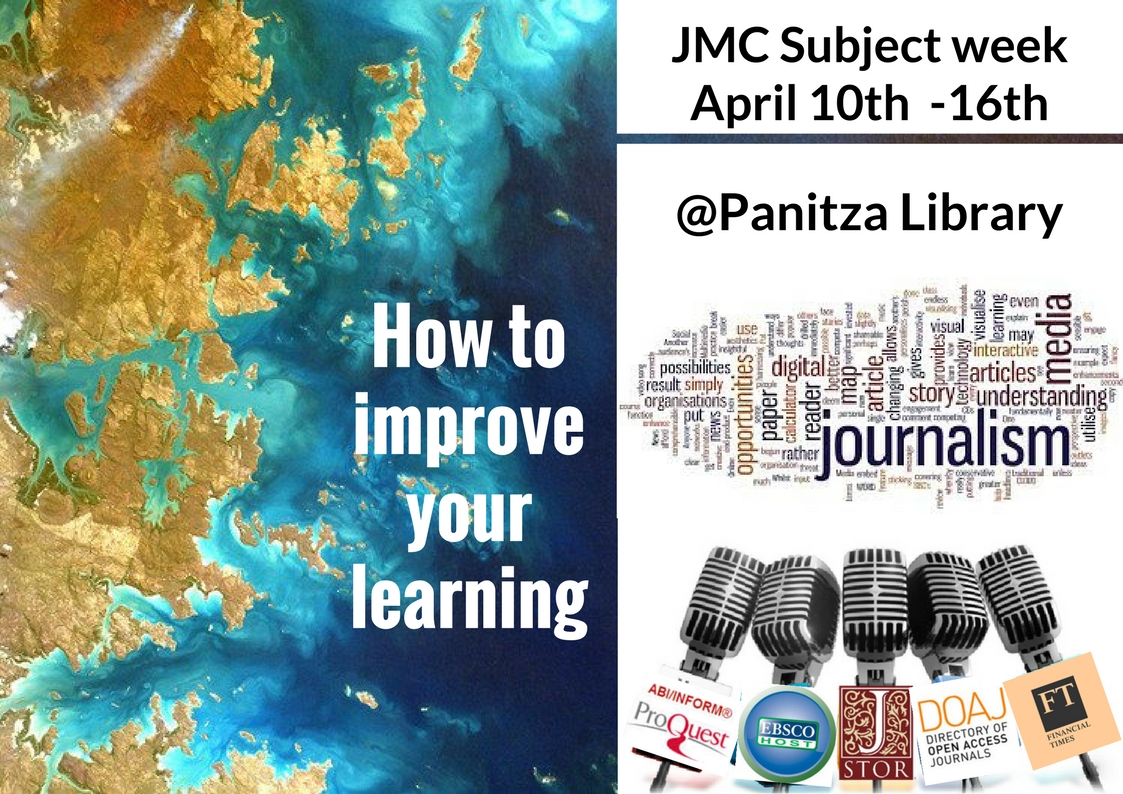 Panitza Library Subject weeks: What's new in JMC? April 10th-16th