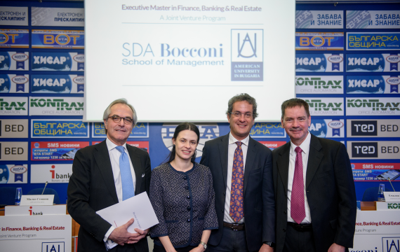 AUBG and SDA Bocconi Present Joint Executive Master's Program in