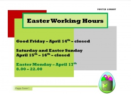 Easter Working Hours