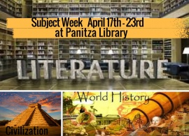 Panitza Library Subject weeks: What's new in Literature, History& Civilization, April 17th -23rd, 2017