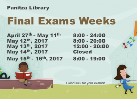 Library extended working hours effective April 27th