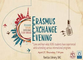 Erasmus Exchange Evening, April 27,2017