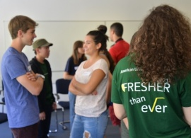 Class of 2021 Get First Taste of Life on Campus
