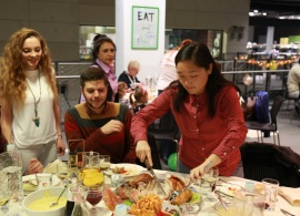 AUBG Community Gathers for a Thanksgiving Feast