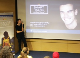 Emil Conrad Talks Successful Vlogging and Internet Popularity in an AUBG Session