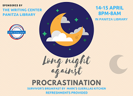 Long Night Against Procrastination (14 / 15 April - Saturday / Sunday)
