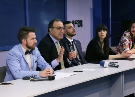 Bulgarian President Peter Stoyanov, AUBG Students Discuss the Salvation of Bulgarian Jews