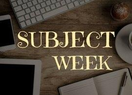 Statistics Subject Week