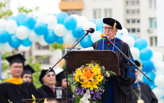 President Emerita Julia Watkins on AUBG, 25 Commencements Later