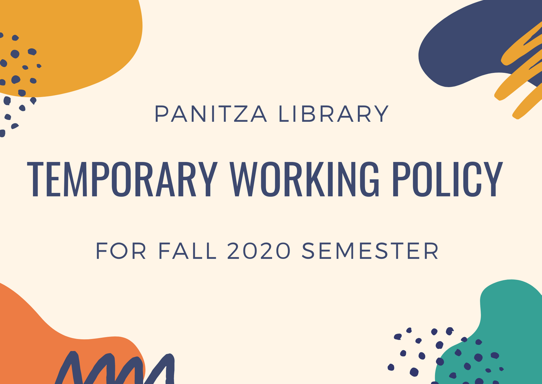 Fall 2020 Library Policy
