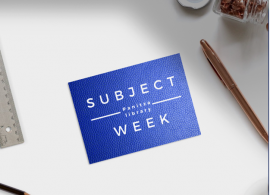 """Subject Week: """"Images with messages: Visual Communication"""""""