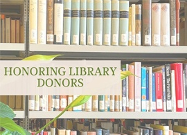 Honoring Library Donors:  Prof. Robert Phillips Jr.
