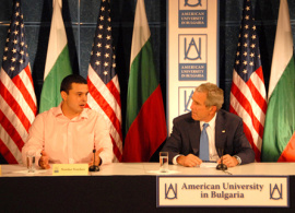 AUBG Students Meet President Bush in Bulgaria