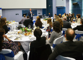 AUBG President Speaks at an AmCham Event at Elieff