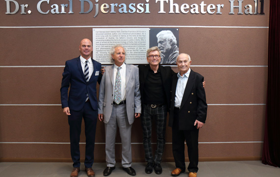 The ABF Theater Becomes the Dr. Carl Djerassi Theater Hall